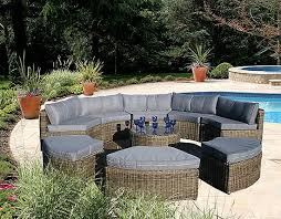 Rattan Curved Sofa Curved Modular Rattan Garden Furniture Set 9 Rattan