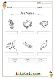 sea animals worksheets learning letters worksheets downloadable