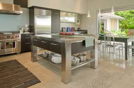 stainless steel kitchen island table kitchens stainless steel kitchen island with storage enhance your