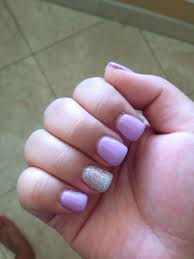 light purple and glittery silver gel colors nails pinterest