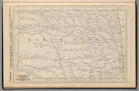 Distance Map Railway Distance Map Of The State Of North Dakota David Rumsey