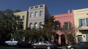 Century Awnings Day Hold Small 3 Story Red Brick Office Building Blue Awnings