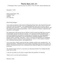 operating room nurse cover letter sample cover letter for