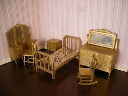 1920s Bedroom Furniture 1920s Bedroom Furniture Toy Dollhouse Furniture Gilded