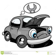 wrecked car clipart car needing repair cartoon stock photo image 11781010