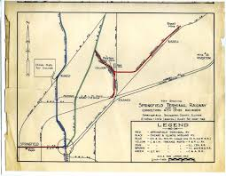 L Train Chicago Map by Springfield Illinois Terminal Map Classic Trains Magazine
