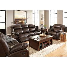 ashley leather sofa recliner ashley furniture branton reclining livingroom set in antique