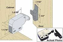 touch latch cabinet hardware woodworker com mini touch latch