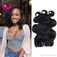 cheap brazilian human hair 3 bundles body wave hair weaves bob