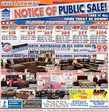 notice of public sale home decor outlet cheektowaga ny