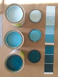 operation ombre turquoise dip dyed painted wall treatment tutorial