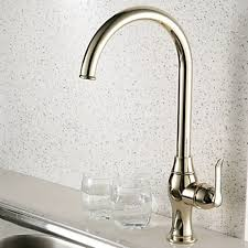Gold Kitchen Faucet by Antique Style Ti Pvd Finish Centerset Brass Gold Kitchen Faucet