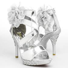 silver prom shoes ebay