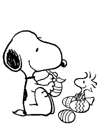 snoopy decorating easter eggs coloring pages snoopy decorating