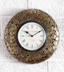 Unique Clock by Buy Swagger Coin Wall Clock Unique Wall Clock Brass Round Wall
