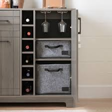 Oak Bar Cabinet South Shore Vietti Bar Cabinet With Bottle And Glass Storage
