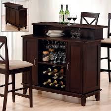 Folding Bar Cabinet Amazing Home Bar Table Set Black Metal Wine Storage 2 Storage