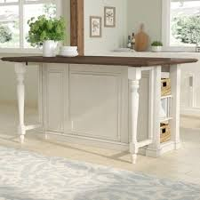 wooden kitchen islands august grove almira kitchen island with wood top reviews wayfair
