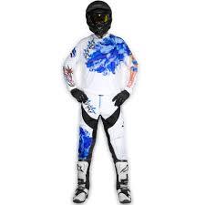 motocross gear sets showgirls blue white mx set strikt gear company
