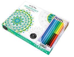vive le color harmony coloring book and pencils color