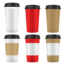 Types Of Coffee Mugs Paper Coffee Cups Set Vector Free Download
