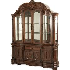aico furniture china cabinet carolina rustica