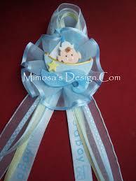 corsage de baby shower sailboat centerpiece favors sailboat corsage