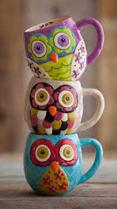 owl mugs thought you d like these i m not really an owl person kitchens