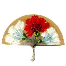 spanish hand painted wooden fan exquisite hand fans pinterest