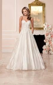 satin wedding dress with sweetheart neckline stella york