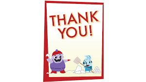 us printable christmas thank you card