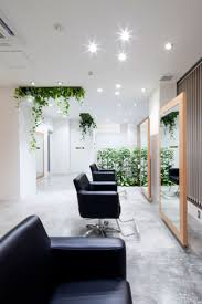 hair salon design comfort and relaxing atmosphere black
