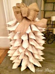 diy how to make upcycled book page christmas trees