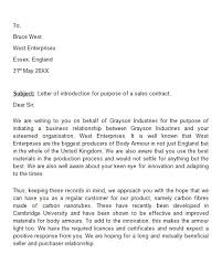 ideas collection sales introduction letter to new client in cover