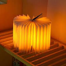 amber led book light portable folding flip book l usb led bedside night light origami