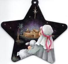 painted tole wood nativity ornament kathy s