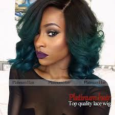 pictures of black ombre body wave curls bob hairstyles body wave short bob wig ombre color black to green heat resistant
