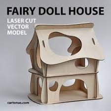 fairy doll house vector model for laser cutter by cartonus doll
