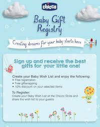 baby gift registry list baby gift registry chicco