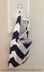 diy phone charger easy diy no sew phone charging pouch the happier homemaker
