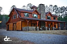 Luxury Log Home Plans Barn With Living Quarters Builders From Dc Builders