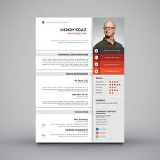 modern curriculum vitae template modern simple template for curriculum vector free download