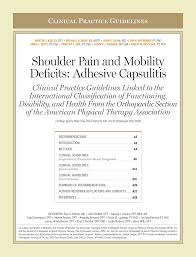 shoulder pain and mobility deficits adhesive capsulitis pdf