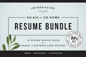 The Resume Go Big Or Go Home The Resume Bundle Resume Templates Creative