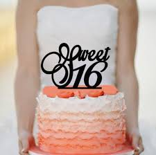 16 cake topper sweet 16 cake topper acrylic cake topper 2462896 weddbook
