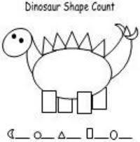 dinosaur shape count worksheet preschool items juxtapost