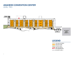 orange county convention center floor plans second level capacities anaheim ca official website