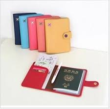 2017 new passport holder 2 cards place and money clip with
