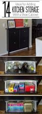 ikea kitchen storage add kitchen storage to a small space using an ikea hemnes shoe