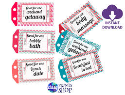 instant download printable love coupons gift for husband or